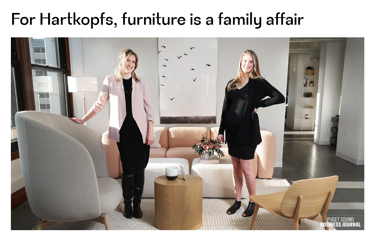 "Puget Sound Business Journal : ""For the Hartkopfs, furniture is a family affair"""